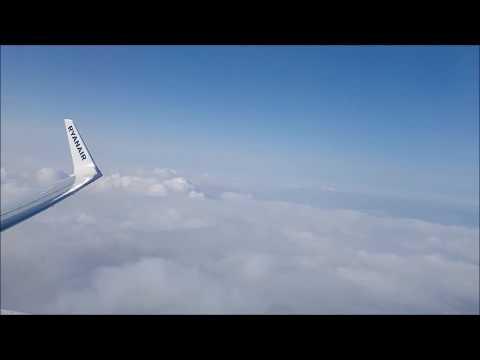 Ryanair - full flight - Warsaw Chopin Airport to Gdańsk - cały lot z Warszawy do Gdańska 22.07.2017