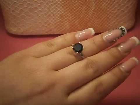 Серьги пусеты с бриллиантами по 0,5 карат - YouTube