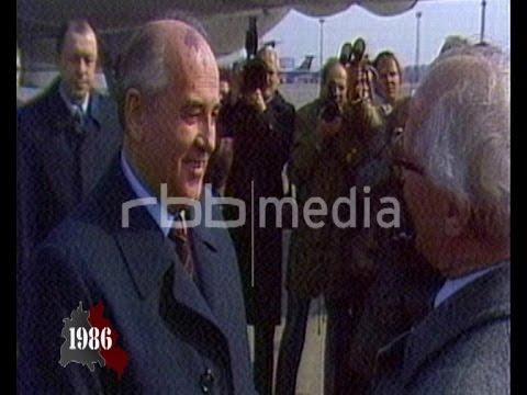 Gorbachev visits East Berlin, April 17, 1986