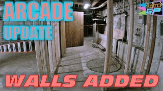 Arcade Pinball Pub Update - Walls Added in build out 4 - Retro GP