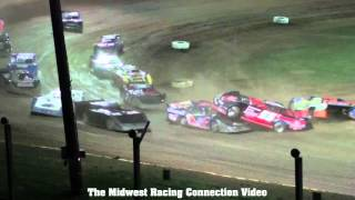 Cedar Lake Speedway Late Model Crash