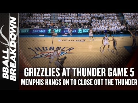 2013 NBA Playoffs: Grizzlies at Thunder Game 5