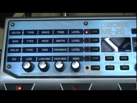 BOSS ME-20 GUITAR MULTIPLE EFFECT DEMO PART1
