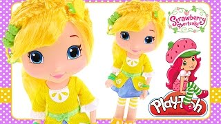 Strawberry Shortcake Lemon Meringue Hair Styling Doll Play Doh Shoes Playdough Jewelry Decorating