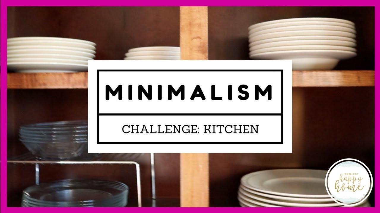 Minimalism Mom Challenge: Kitchen Declutter || Realistic Minimalism ...