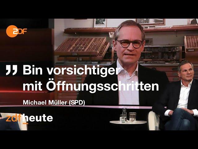 Berlins regierender Bürgermeister lockert weniger als andere I Markus Lanz vom 10.03.2021