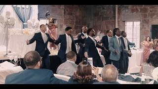Bay Area Groomsmen dance! epic ending. Best wedding performance by black excellence. Young love!