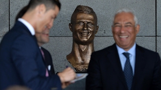 Cristiano Ronaldo bust unveiled as airport is named after footballer – video