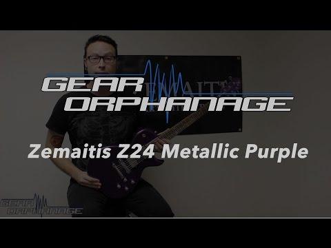 Zemaitis Guitars Z24 Metallic Purple Demo