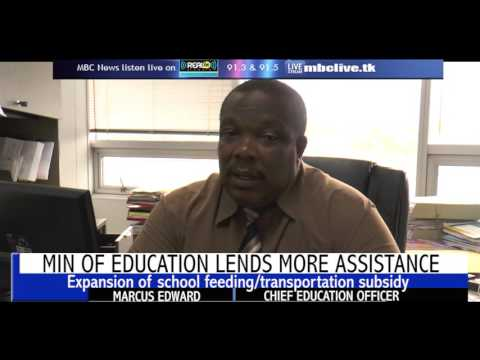 MIN OF EDUCATION LENDS MORE ASSISTANCE