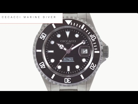 CECCACCI Marine Automatic Diving Watch Review   200M Swiss ETA Automatic Diver UNDER $500 NEW