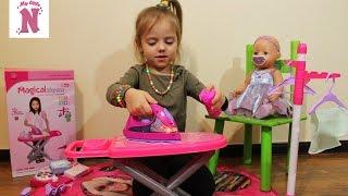 Игровой набор для девочек утюг гладильная доска вешалка  распаковка и обзор Мagical play set