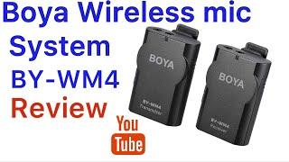 BOYA BY-WM4 Wireless Mic system Review