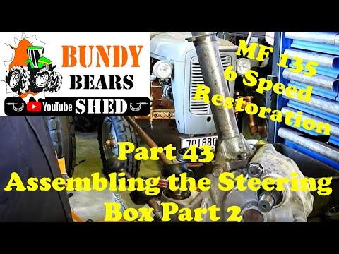 MF135 6 Speed Restoration #43 Assembling The Steering Box Part 2
