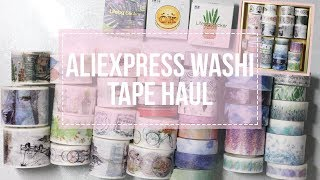 ALIEXPRESS WASHI TAPE HAUL || OVER $60 WORTH OF TAPES