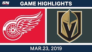 NHL Game Highlights | Red Wings vs. Golden Knights – March 23, 2019