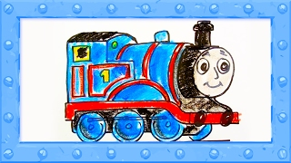 How to Draw Thomas the Tank Engine  ♦ Drawing and Colors Learning video for  Preschoolers