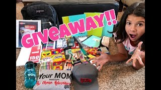 **HUGE BACKPACK GIVEAWAY** WHAT'S IN OUR BACKPACK?!