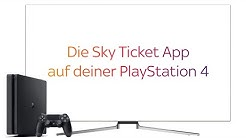 Sky Service Tutorial - Sky Ticket App auf der Playstation 4