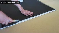 How to Assemble a Solar Screen