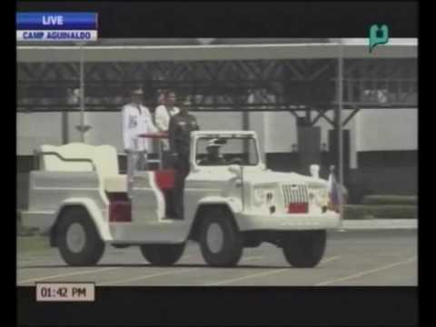VIDEO: Pres. Rodrigo Duterte inspects troops inside Camp Aguinaldo