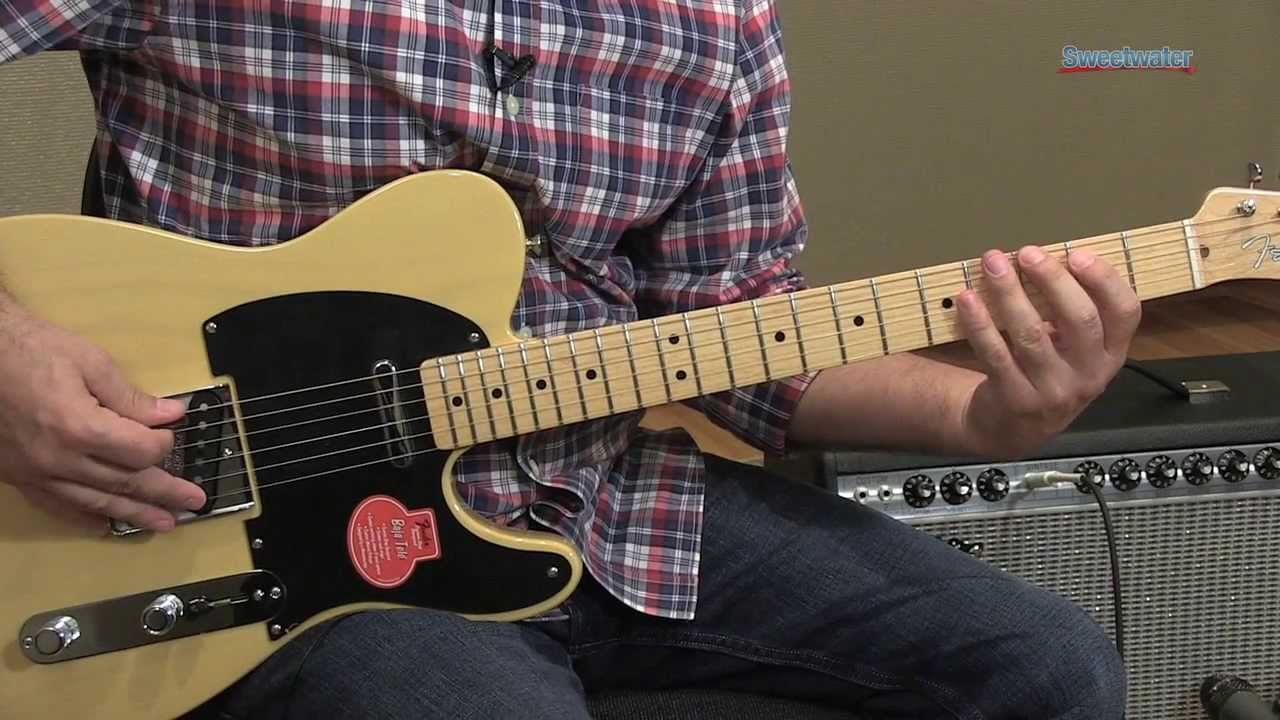 Fender Classic Player Baja Telecaster Guitar Demo ...