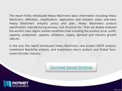 Global Heavy Machinery Industry 2016 Market Research Report