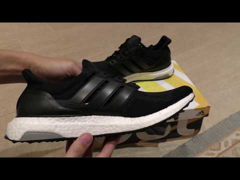 adidas-ultra-boost-in-black-running-shoe-unboxing