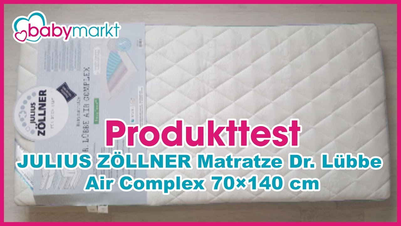 Produkttest Julius Zöllner Matratze Dr Lübbe Air Complex 70x140cm