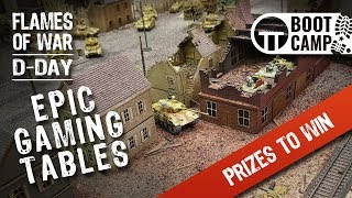 Epic Gaming Tables of the Flames of War D-Day Boot Camp