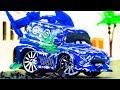 DJ Crash & Repair!  Disney Cars Toys Stop Motion Animation Tuner Cars