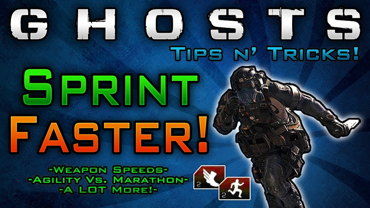 Sprint Faster in Ghosts! Weapon Speeds & Agility Vs ...