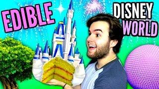 DIY Edible Disney World - EAT Magic Kingdom CASTLE, Gummy Epcot Ball, Animal Kingdom Meat Tree DIY