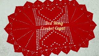 #Tapete Oval Coracao Crochet/코…