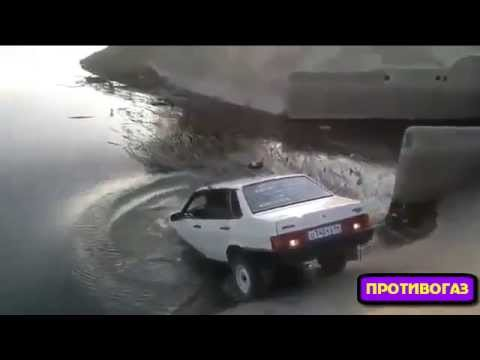 Смотреть Придурок утопил машину в реке. Гидроудар двигателя. Противогаз #3 онлайн