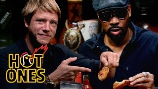 RZA and Paul Banks Tag Team Spicy Wings | Hot Ones