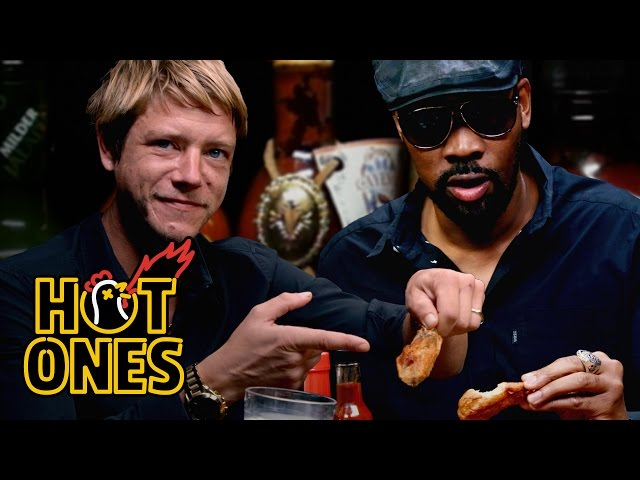 RZA and Paul Banks Tag Team Spicy Wings   Hot Ones
