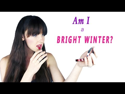 COLOR ANALYSIS | Am I A BRIGHT WINTER?
