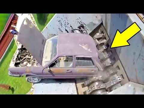 Быстрая утилизация машин с помощью шредера