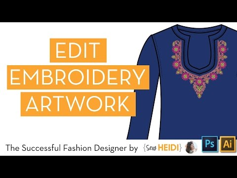 How To Edit Embroidery Artwork In Illustrator And Photoshop