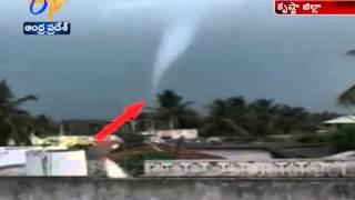Watch; Tornado Wreaks Havoc in Krishna Dist