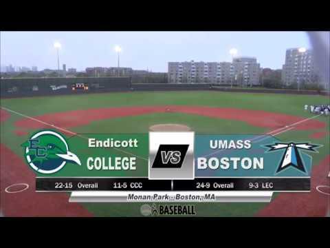 UMass Boston Baseball vs. Endicott College Webcast (5/1/17)