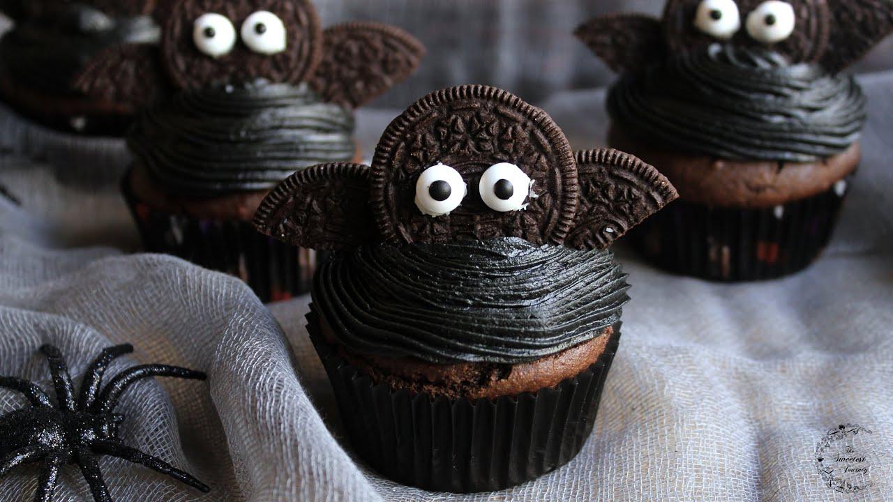Halloween Bat Cupcakes.Easy Halloween Bat Chocolate Cupcakes Recipe The Sweetest Journey Youtube