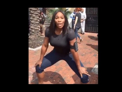 image Serena williams pregame twerk rare footage