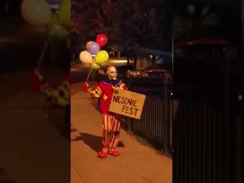 Scary Clown in West Springfield, MA