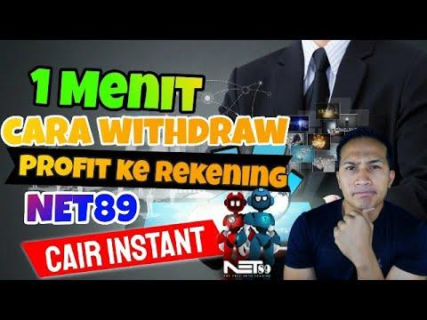 Cara Withdraw Profit Robot NET89 Ke Rekening 1 Menit Beres (instant Cair)