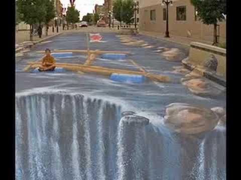 3d Street Art Graffiti Wallpaper Extreme 3d Sidewalk Chalk Drawings Youtube