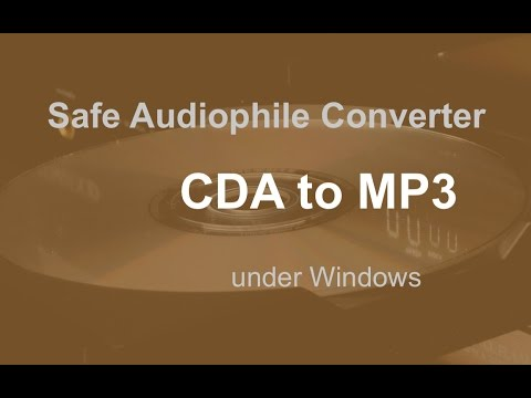Safe CDA to mp3 Converter for Audiophiles
