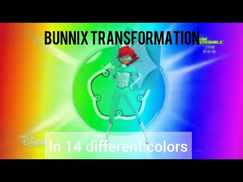 Bunnix Transformation in 14 Different Colors | Miraculous Ladybug Multicolored