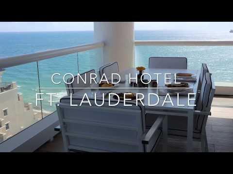 Conrad Hotel |  Fort Lauderdale - Room Tour * Oceanfront 1 bdrm - BEST HOTEL BALCONY EVER!